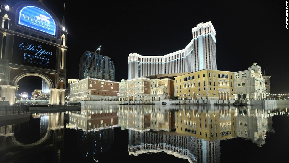 The Las Vegas Sands group spent $2.4 billion to build its Macau replica of the Las Vegas original. There's even Grand Canal Shoppes complete with gondolas, on which gondoliers serenade guests.
