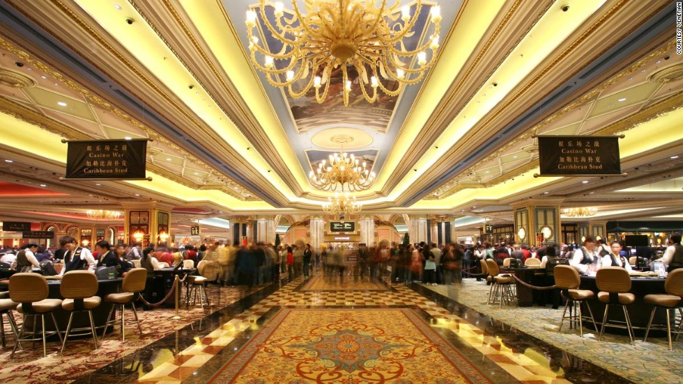 The Venetian isn't just the biggest casino in Macau. It lays claims to having the world's largest casino floor -- almost 540,000 square feet of gaming space.