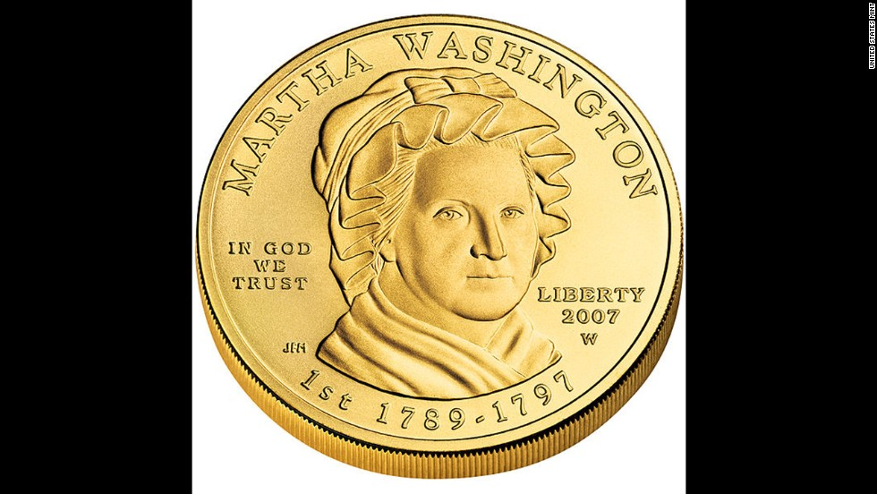 According to the U.S. Mint, the coin featuring Martha Washington was the first coin struck with a first lady.
