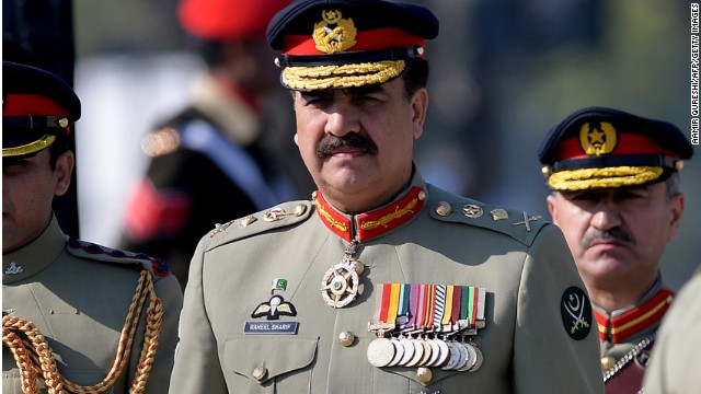 Pakistan's former army chief General Raheel Sharif seen in Rawalpindi on November 29, 2013.