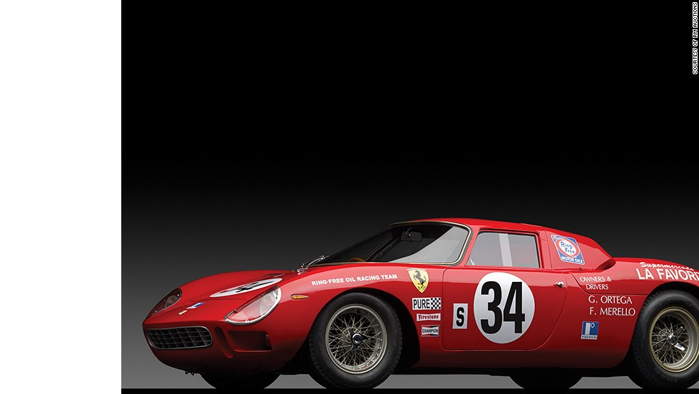 "Last month, Sotheby's ""Art of the Automobile"" racked up more than $60 million in total sales. This 1964 Ferrari 250 LM was the top selling car, costing the winning bidder a hefty $14.3 million."