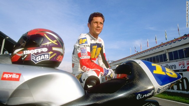 Italy's Dariano Romboni in a picture taken prior to the 1996 Malaysian Grand Prix.