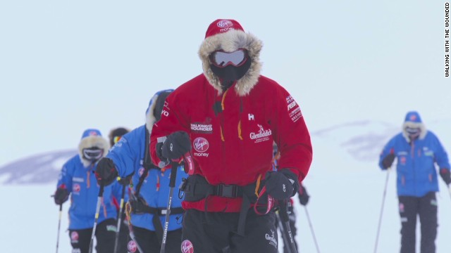 Prince Harry treks to the South Pole