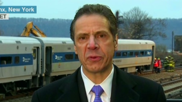 N.Y. Governor on train derailment