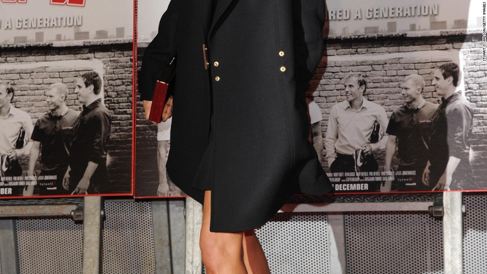 A posh Victoria Beckham supports her husband's film premiere in London on December 1.