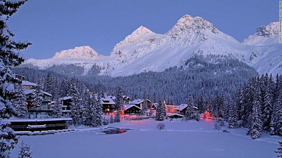 Davos, St Moritz and Klosters are some of Graubünden's most famous resorts, but they're also the most expensive. For equally fantastic skiing at half the price, there's nearby Arosa. At 2,653 meters (8,704 feet) above sea level, it's one of Switzerland's most snow-sure resorts.