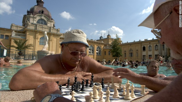 Check mates at laid-back Széchenyi Baths.