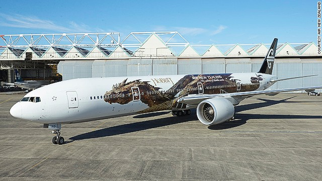 Air New Zealand's new Hobbit-themed livery features the dragon Smaug.