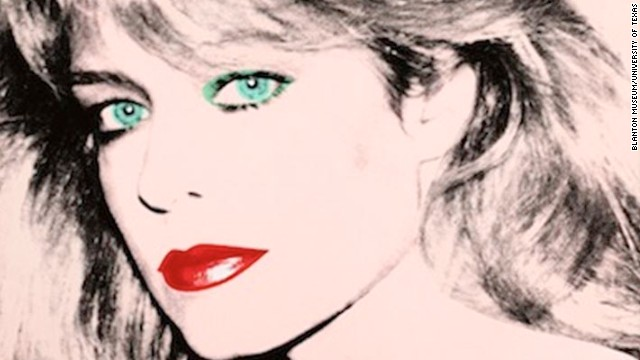 This Andy Warhol portrait of Farrah Fawcett is at the University of Texas, which is suing Ryan O'Neal for its twin.