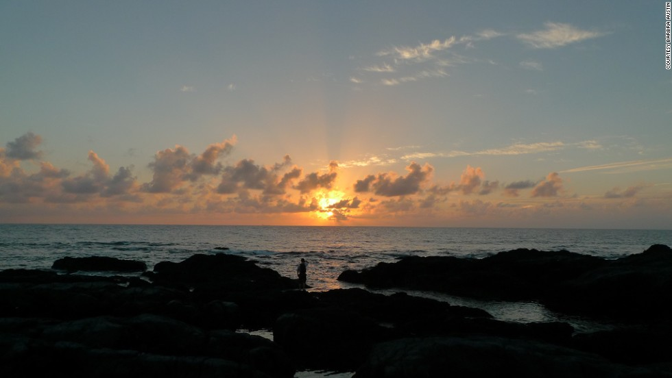 Sunset as seen from the Kurio coast.