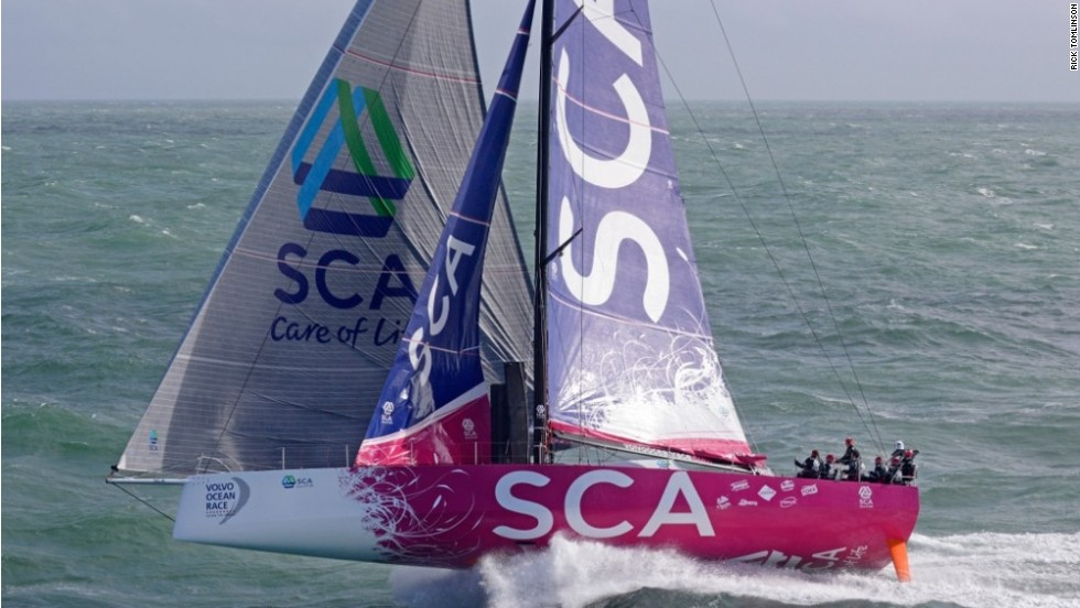 """Photographer Rick Tomlinson, snapping the all-female crew of Team SCA's ocean racing venture, described it as a """"photo session with many good shots, it was hard to chose which one to enter into the competition."""""""
