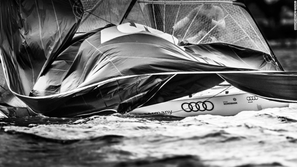 "The shots span the globe -- in this instance Keel Week Race in Germany, where photographer Ainhoa Sanchez Vidales observed: ""Feel the control of the sailor to dominate all the elements."""