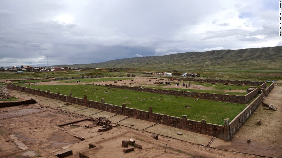 A view of the Kalasasaya temple in the archaeological site at Tiwanaku hints at the civilization that thrived here between 500 and 900 A.D.