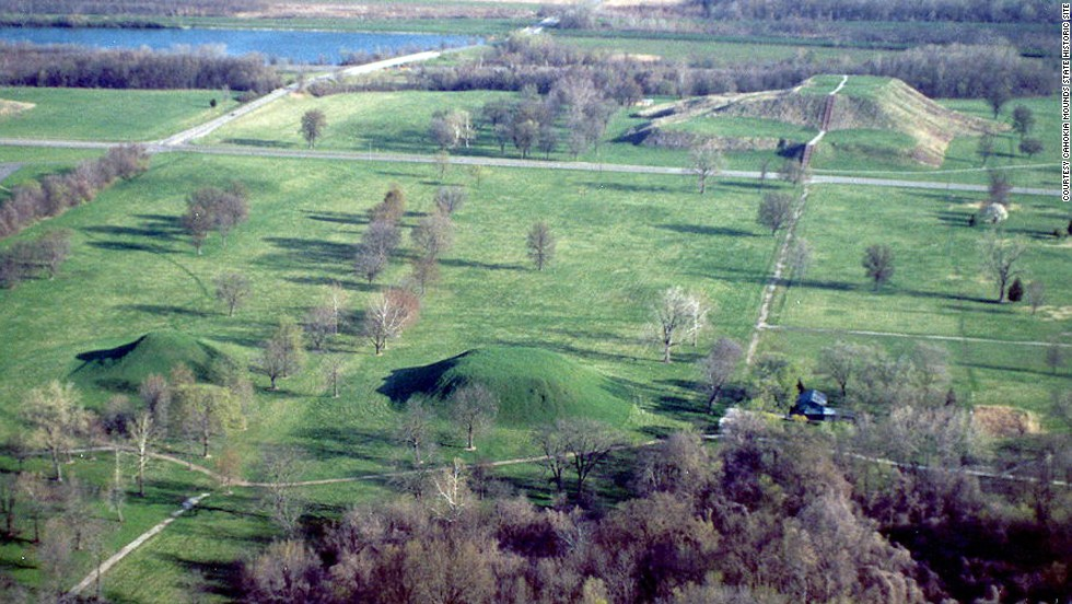 Cahokia Mounds looks like a grouping of giant lumps in the earth built by the Mississippian culture more than 1,000 years ago near what is now Collinsville, Illinois.