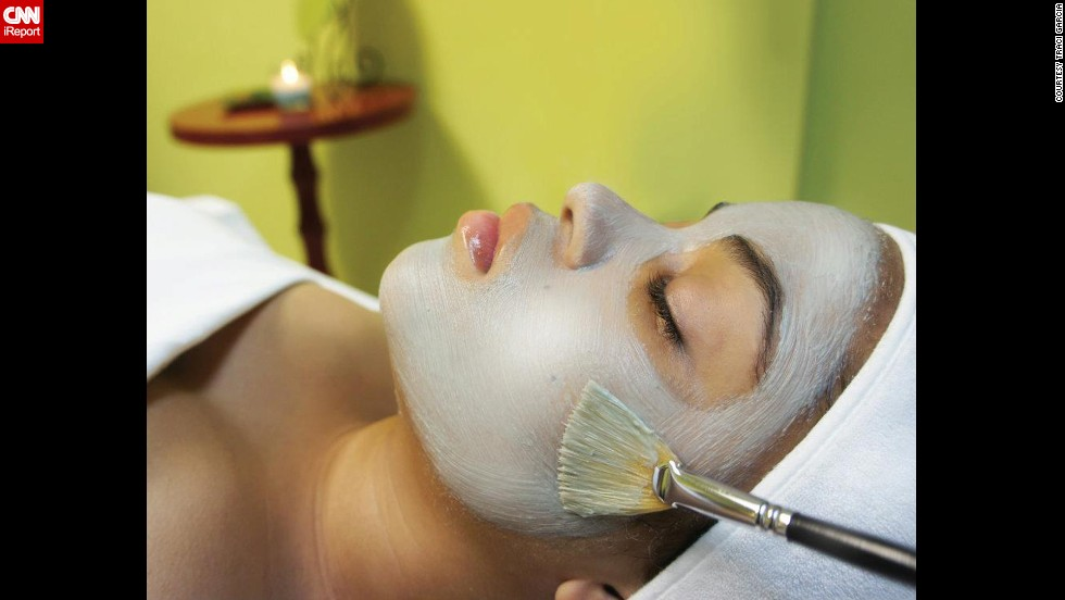 "When Traci Garcia's 19-year-old daughter feels super stressed out, Garcia (the co-owner of a spa) treats her to a facial. ""It's a full hour of uninterrupted relaxation that she appreciates,"" said Garcia of Harwood Heights, Illinois."