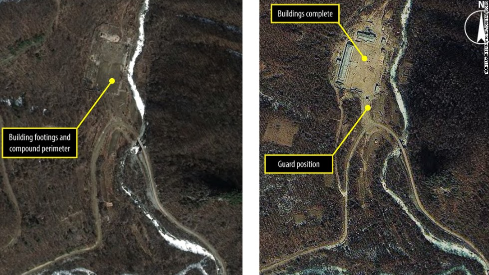 Satellite images of Kwanliso 15 (Yodok Kwanliso), taken on the 26 March 2011 and 22 February 2012 show an administrative compound that was built during that period. The complex is likely to be a guard station or an administrative area to support logging activities.