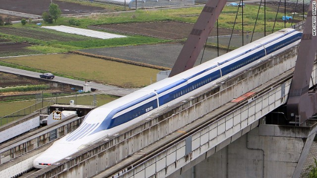 The maglev train being tested in central Japan could cut travel time between Tokyo and Osaka, or New York to D.C. to one hour.