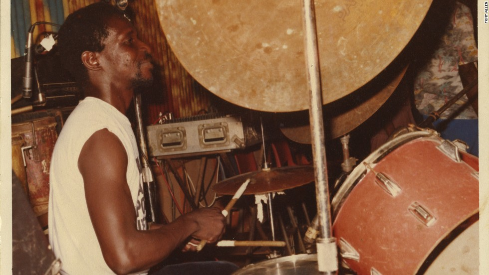 Nigerian drummer Tony Allen is famous for helping create Afrobeat as member of Fela Kuti's Africa 70 band.