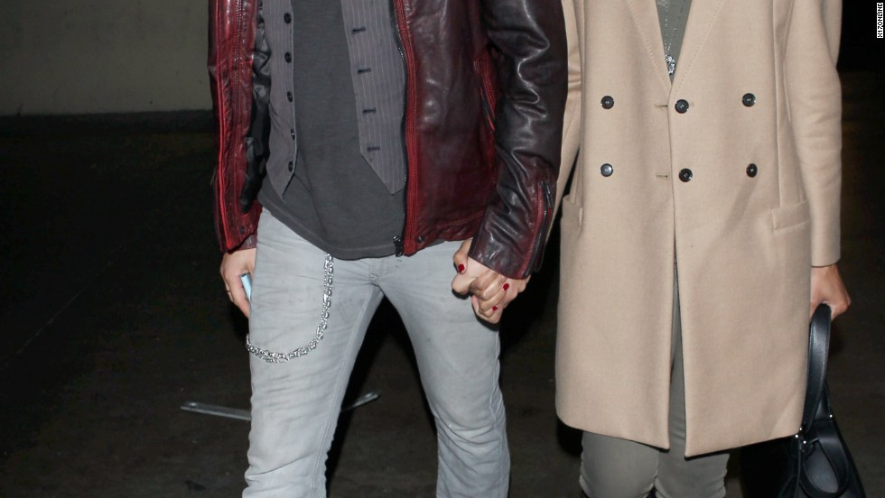 Zoe Saldana and her husband Marco Perego arrive at Beyonce's Los Angeles concert on December 3.