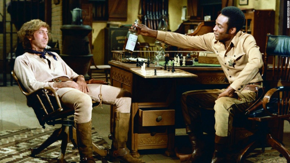 "Mel Brooks directed two of the year's most popular films: ""Blazing Saddles,"" with Gene Wilder, left, and Cleavon Little; and ""Young Frankenstein."""