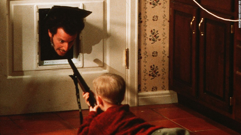 "While comedy movies for adults became more wordy and less physical over the latter half of the 20th Century, slapstick in children's filmmaking has never faltered. It seems that kids never tire of seeing people being smacked, tripped, beaten or otherwise bruised. ""<strong>Home Alone""</strong> (1990) proved that it's especially popular when the child seeks revenge on adults -- Kevin McCallister (<strong>Macaulay Culkin</strong>) <a href=""http://www.youtube.com/watch?v=CK2Btk6Ybm0&noredirect=1"" target=""_blank""><strong>defending his boobytrapped home from robbers</a></strong> goes down as one of cinema's most gleefully violent sequences."