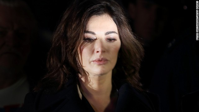 Nigella Lawson leaves court after testifying in the fraud trial of two former assistants on December 4.