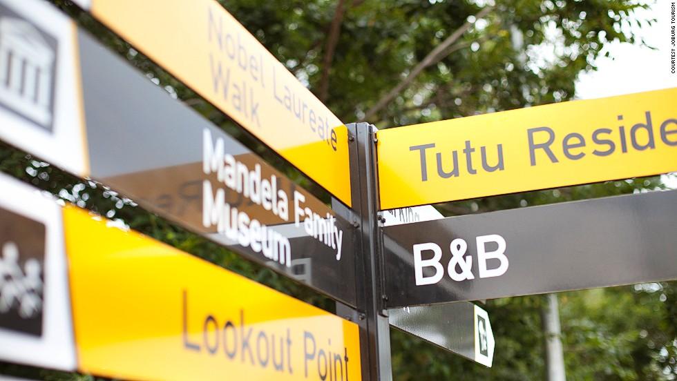 Nelson Mandela and Desmond Tutu -- two Nobel Peace Prize winners -- both lived  on Soweto's Vilakazi Street.