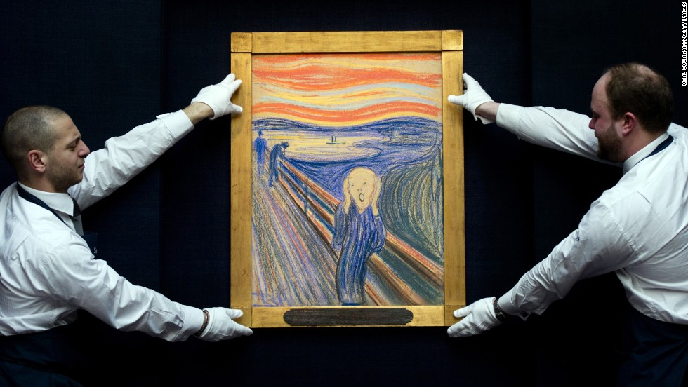 "Edvard Munch's ""The Scream"" sold for $120 million at Sotheby's in New York in May 2013, setting a world record at the time."