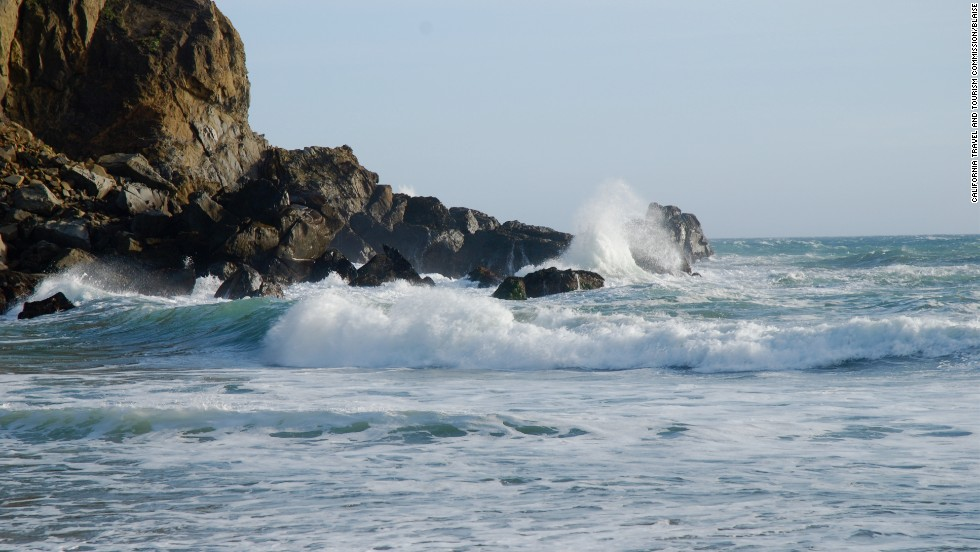 Big Sur is a spectacular highlight on the drive of Highway 1. Pfeiffer Big Sur State Park is shown here.