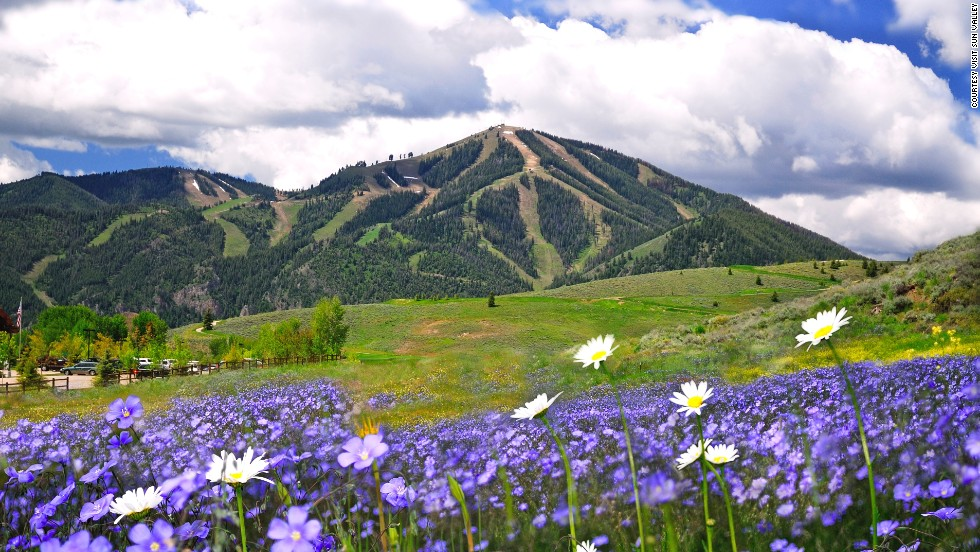 In summer, Sun Valley is blooming with gorgeous nature and outdoors activities.