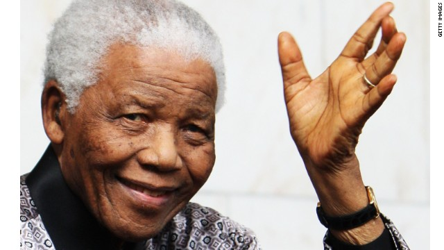(FILE PHOTO) Former South African President Nelson Mandela Has Died LONDON - JUNE 26: Nelson Mandela leaves the InterContinental Hotel after a photoshoot with celebrity photographer Terry O'Neil on June 26, 2008 in London, England. Mandela is in London in advance of the 46664 concert being held at Hyde Park on Friday the 27th June to celebrate Nelson Mandela's 90th Birthday. (Photo by Chris Jackson/Getty Images)