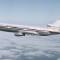 DC-10 boeing in sky