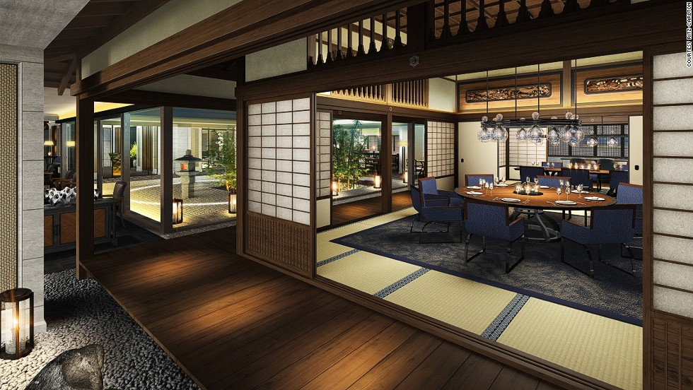 Incorporating a traditional Meiji-era house and courtyard, the Kyoto Ritz will be within walking distance of many historic sites. Opening: February 7, 2014.