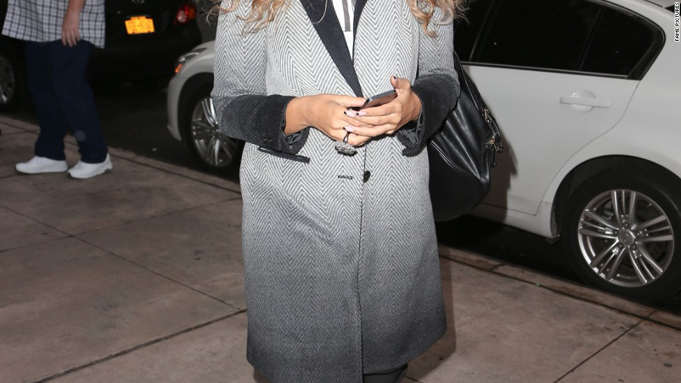 Leona Lewis is all smiles in New York City on December 5.