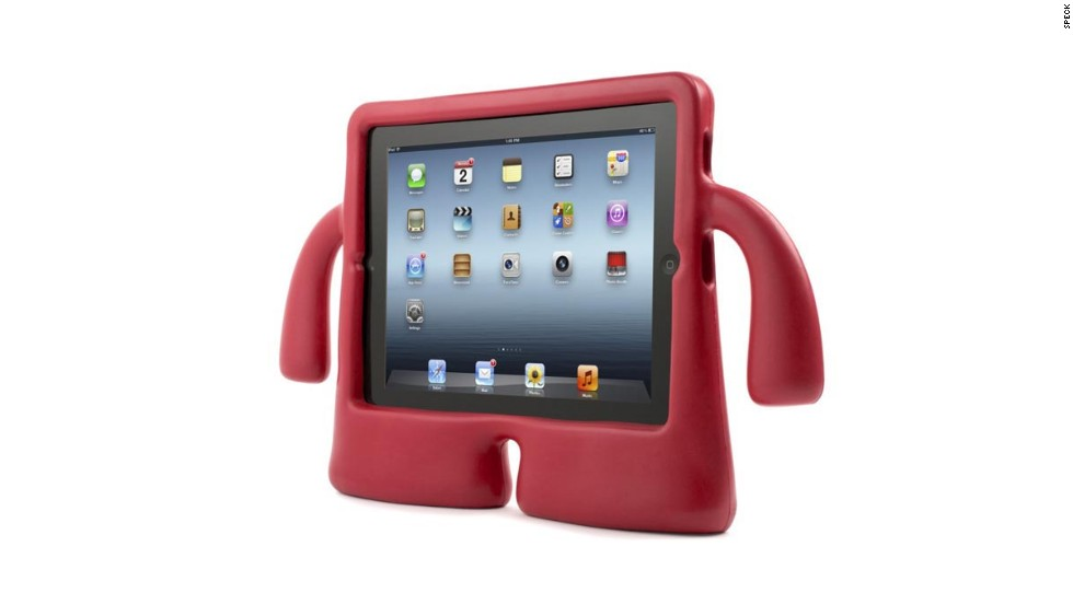 "<a href=""http://www.speckproducts.com/tablet-ipad-cases.html?gclid=CKPBkZDhnLsCFaHm7AodHTAAiA"" target=""_blank""><strong>Speck iGuy rubberized iPad cover<strong></a></strong>.</strong> If your kids are ready for an iPad, they still may not be ready to handle it smoothly. That¹s where the Speck iGuy comes into play. It¹s a rubberized case that protects the valuable electronics within and features a loopy design that makes the iPad look like a stout, cartoonish man. Hmm ... given the issues some adults have with their iPads, maybe it¹s not just for kids. ($39.99 for full-sized iPads, $29.99 for iPad Mini)"
