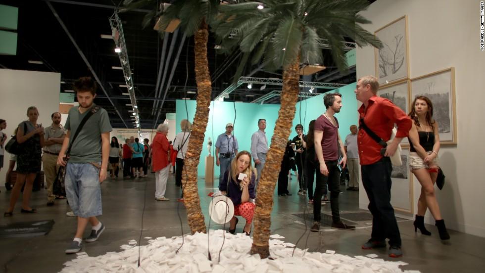 "A work by Jose Carlos Marhinat titled ""Isla"" on display on December 5."