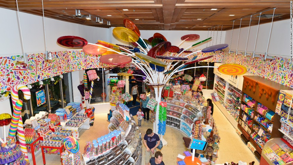 Dylan's Candy Bar hosts food artists Henry Hargreaves and Caitlin Levin during Art Basel on Friday, December 6, in Miami Beach.
