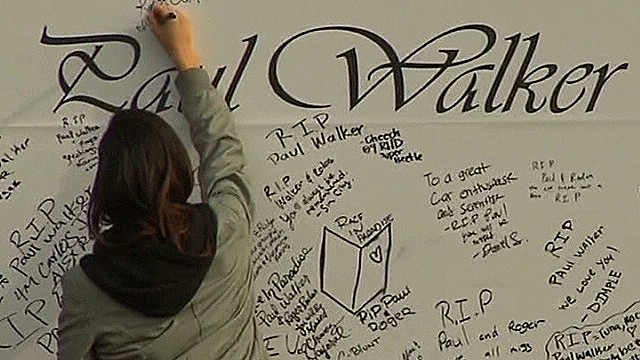 Fans pay tribute to Walker