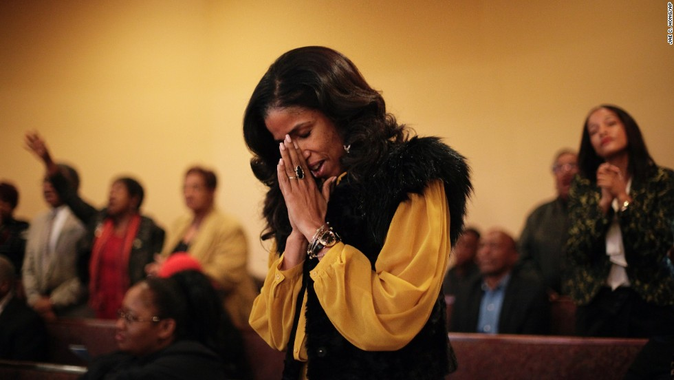Areva Martin sings during the service at First A.M.E. Church on December 8.