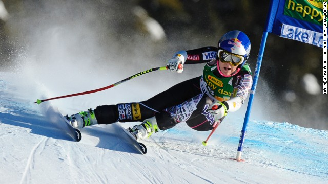 Lindsey Vonn improved with every race on her return to competitive action at Lake Louise.