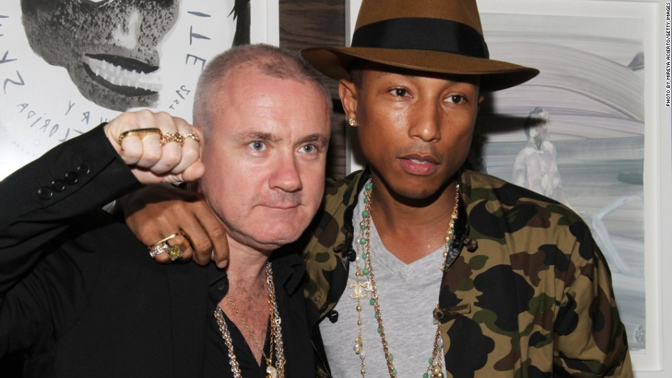 Now, more than ever, the good and the great of Hollywood and pop music are gathering a reputation as voracious art collectors. In the process they have turned Art Basel Miami Beach, the most celebrated art fair in the U.S., into a star-studded affair. Rapper Pharrell Williams has a vast art collection that includes pieces by Takashi Murakami and Damien Hirst, pictured above. During Art Basel Hirst and Williams attended a Vanity Fair party to celebrate artist Tracey Emin.