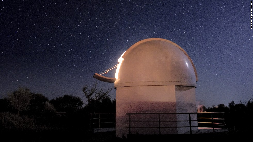 Hotel de Larache takes advantage of its prime astronomy spot in Chile's Altiplano desert region with an observatory housing a 16-inch, advanced-optics Meade telescope to gaze into the great black yonder.