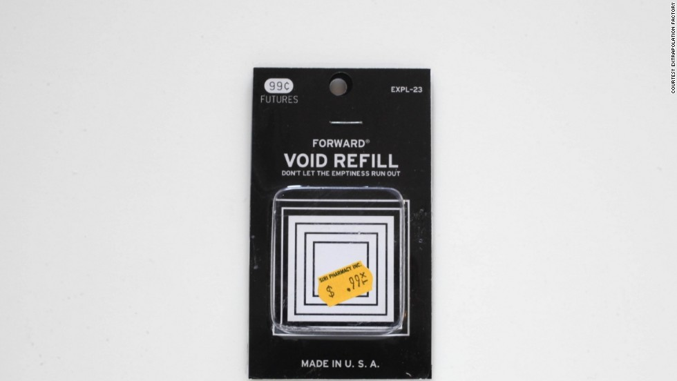 """""""Void Refill can be used to refresh the hollow present. Regeneration of emptiness is a gradual process. When used regularly this high quality all-natural material helps keep concepts ephemeral."""" Step 1: Soak area to be treated for two minutes in a pan of warm water with gentle liquid beauty soap. Step 2: Dip the refill in the soapy water. Step 3: Close your eyes."""""""