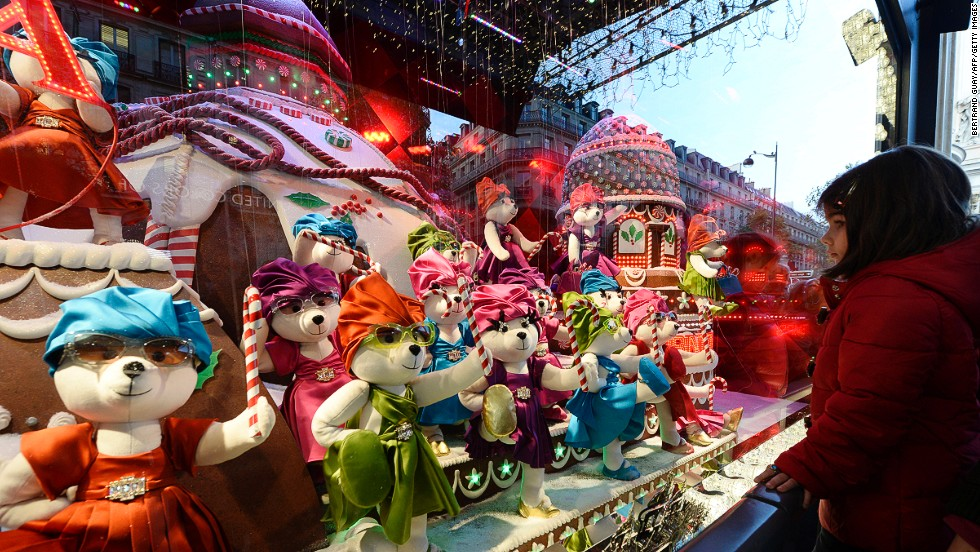 "<strong>""A Joyful Obsession,"" Printemps, Paris:</strong> For more than a century, department stores have been creating fantastic window displays around the Christmas holidays. This year's highlights include 80 teddy bears that prance in the windows of French department store Printemps. Each of the bears wears miniature Prada. Gwyneth Paltrow unveiled these windows with much fanfare in November."