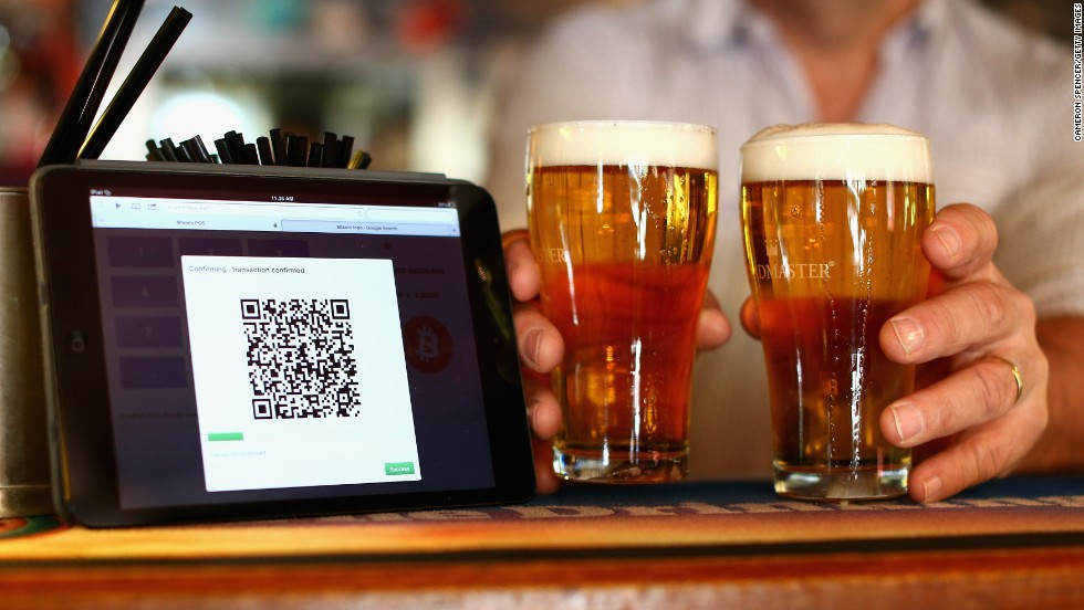 But that has not yet stopped the popularity of Bitcoin growing. A terminal to accept payments using Bitcoins (pictured) is displayed on the bar at the Old Fitzroy pub in Sydney, Australia on September 19, 2013.