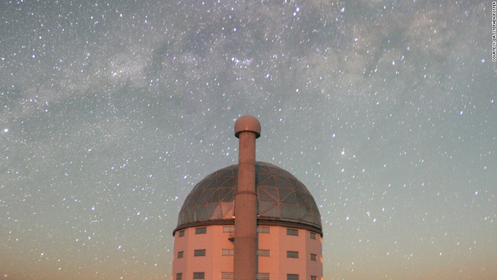 Stars light up the night sky in South Africa. The main observing site is 1,798 meters above sea level.