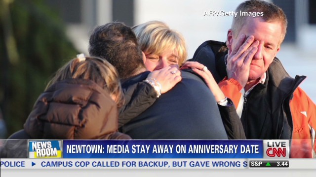 Newtown to media: Stay away, please