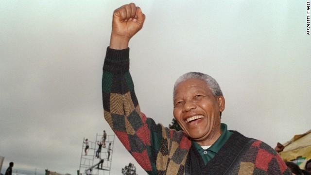 South African President Nelson Mandela on November 13, 1993.