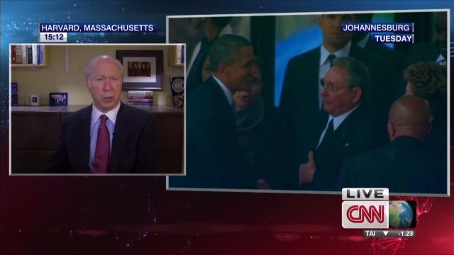 Handshake heard in Cuba