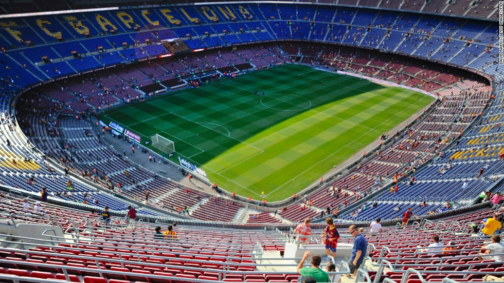"Barcelona is considering leaving its Nou Camp stadium, where it has played since 1957. The Catalan ground is the largest stadium in Europe with a <a href=""http://www.fcbarcelona.com/club/history/detail/card/1957-the-inauguration-of-the-camp-nou"" target=""_blank"">current capacity of 98,772</a>, but it falls behind other sporting arenas from around the world."